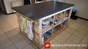 ilot cuisine palette ilot central de cuisine en palette meuble en palette diy