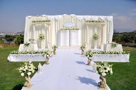 Download Outdoor Wedding Stage Stock Photo Image Of Decoration