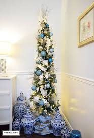 White Flocked Pencil Christmas Tree by Parade Of Christmas Trees 2016 Citrineliving