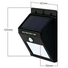bright solar wall lights 4 led wireless powered motion sensor