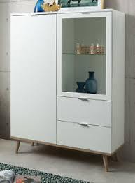 details zu highboard schrank göteborg weiß eiche sonoma vitrine wohnzimmer esszimmer möbel