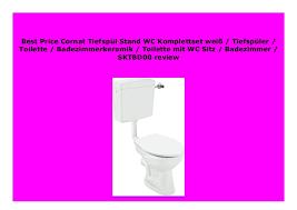 discount cornat tiefsp l stand wc komplettset wei