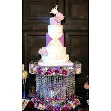 Cake Stand Wedding Crystal With Crystals Chandelier Acrylic Beads Cupcake