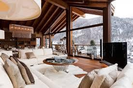 dekoideen luxuriöse interieurs der chalets in den alpen