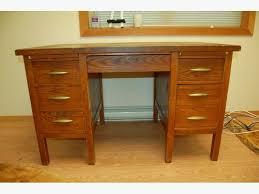 solid oak teachers desk vintage teachers desk pinterest