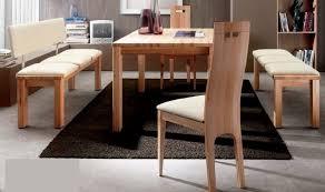 essgruppe essbankgruppe bank tisch stühle sitzbank kernbuche massiv leder lanatura