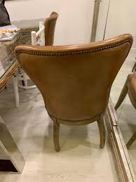 Rustic Vintage Leather Dining Chair On Carousell