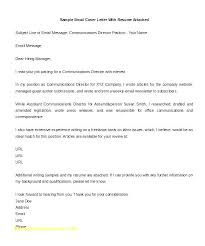 Cover Letters With Resume Writing For Resumes Email Format Examples Best Of Letter