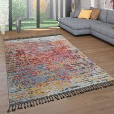kurzflor wohnzimmer teppich ethno design 3 d look