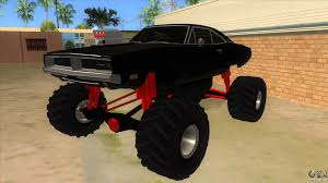 1969 Dodge Charger Monster Truck For GTA San Andreas Grand Theft Auto San Andreas Review Gamesradar Subaru Legacy 1992 Monster Truck Gta Ford F350 Super Duty For Burrito Monster Sound New Handling Gta5modscom Nissan Skyline R32 4 Door Stretch Blue Thunder E250 By Pumbars Egoretz Gta Mods Maximum Destruction Infernus