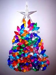 Ebay Christmas Trees With Lights by 60 Medium Twist Bulbs Large Clear Star Vintage Ceramic Christmas