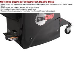Cabinet Table Saw Mobile Base by Sawstop 1 75 Hp Professional Cabinet Saw With 52