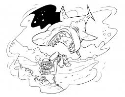Tiger Shark Coloring Pages A Drawing Of Great White From