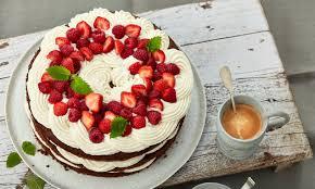 erdbeer himbeer sahne mascarpone torte