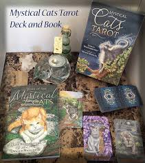 cats on deck mystical cats tarot deck and companion book