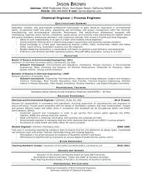 Chemical Engineering Resume Examples Download Engineer Sample Student