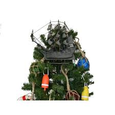 Flying Dutchman Model Pirate Ship Christmas Tree Topper Decoration