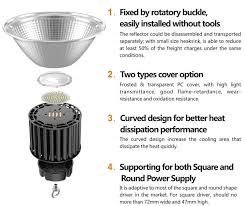 200w led high bay light industrial warehouse lighting with motion