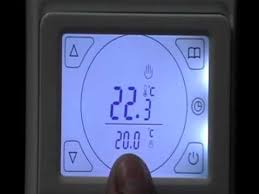 Warm Tiles Thermostat Instructions Manual by How To Program A Touchscreen Thermostat Ufhhq E91 Youtube
