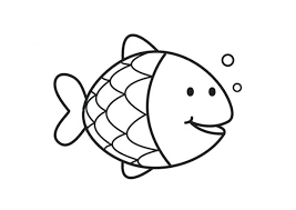 Rainbow Fish Coloring Pages For Preschoolers Kids Free