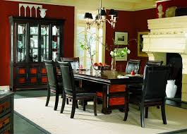 Two Tone Finish Formal Dining Room Set With Leather Seats