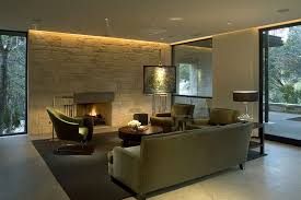 ambient light living room contemporary with wall incandescent