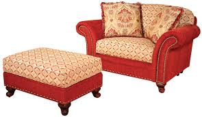 King Hickory Sofa Construction by Traditional Ottoman And A Half With Nailhead Trim By King Hickory
