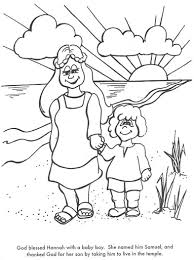 Learn Bible Stories With Hannahs Prayer Is Answered Coloring Page