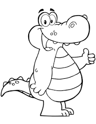 Click To See Printable Version Of Cartoon Alligator Coloring Page