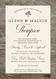 Rustic Vow Renewal Invitation Invite Wedding