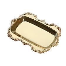 multifunktions metall ablage tablett obstteller platte kuchen snack fach gold serviertablett wie beschrieben