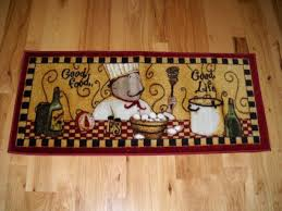 Matchless Ceramic Chef Kitchen Decor Of Rectangle Doormat That Using From Saxony Textured Carpet With Fat