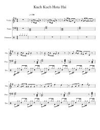 kuch kuch hota hai sheet for piano violin drum