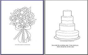 Wedding Coloring Books For Kids