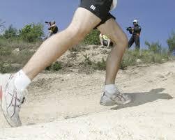 le genou du coureur international