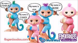 Fingerlings All Names Song Monkey Unicorn Sloth
