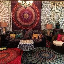 Home Accessory Tapestry Magical Night Star Mandala Psychedelic Tapestries Wall Decor Hippie