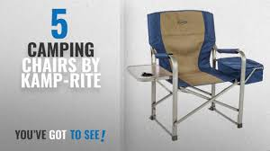 Top 10 Kamp-Rite Camping Chairs [2018]: Kamp-Rite Director's Chair With  Side Table & Cooler, Blue