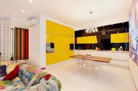 Modern Kitchen Decor In Yellow Colors