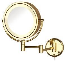 jerdon hl75g 8 5 inch lighted wall mount makeup mirror
