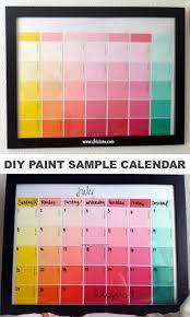 DIY Paint Sample Craft A Reusable Calendar Perfect For Kids Or Teens