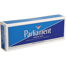 Parliament Lights 100 s White Pack Box