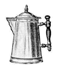Vintage Coffee Pot Clipart Old Fashioned Maker Black And White Clip Art