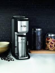 Mr Coffee BVMC SCGB200 Single Cup Coffeemaker With Built In Grinder Black