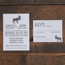 Rustic Moose Mountain Wedding Invitation Calgary