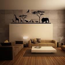 chambre enfant savane sticker savane africaine et ses animaux