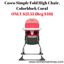cosco simple fold high chair colorblock coral only 21 55 reg