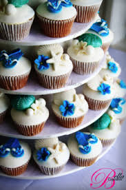 Love This Cool Summer Color Palette Bright Blues And Vivid Sea Green With Lots Of Wedding White Simply Perfect Cupcakes From Bella