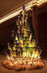Wine Bottle Christmas Tree Stand By AJsGlassInnovations On Etsy