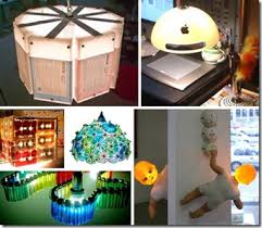 Lamps Recycled Materials Awesome Creative Ideas For Home Decoration With Waste